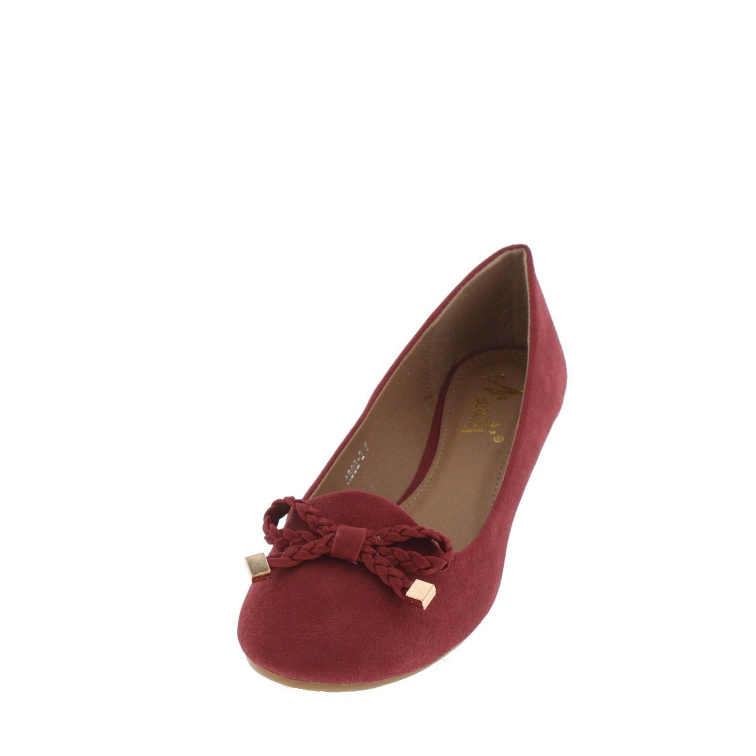 Zapato Mujer Genérica Aleisha Rojo Planos