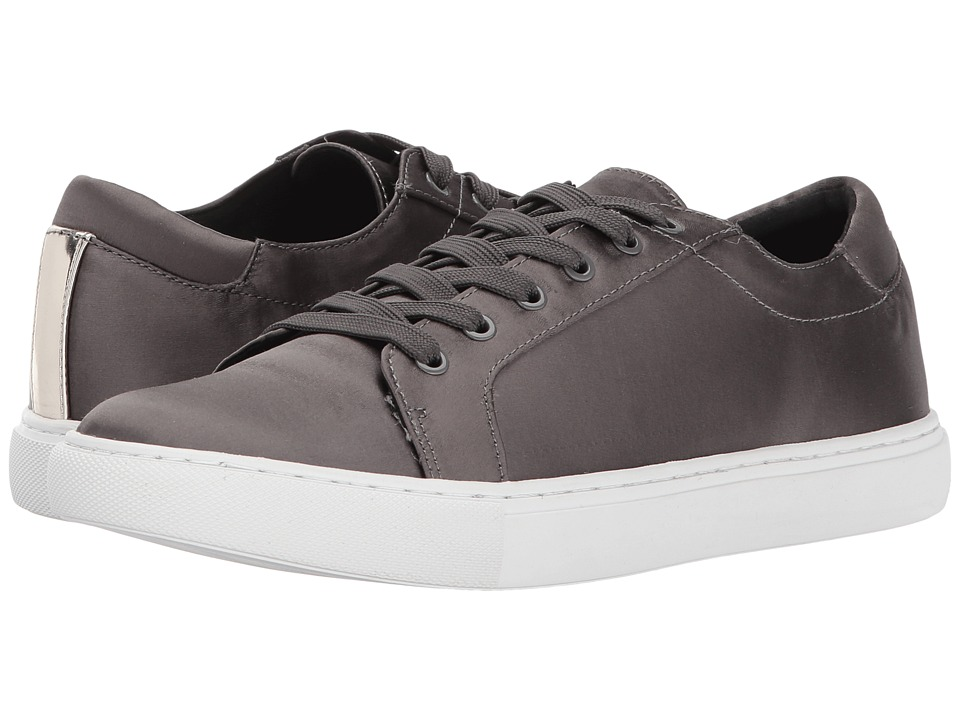 Zapatilla Mujer Kenneth Cole New York Kam Gris Planos Cuero Natural