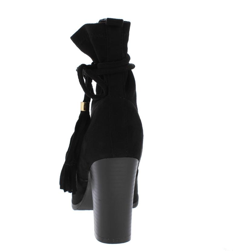 Bota Mujer Genérica Kaiden Kailey Negro Tacón Alto
